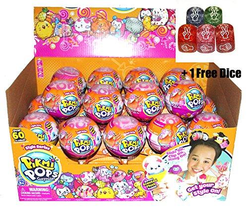 Pikmi Pops Surprise S3 Season 3 Box of 18 Small + FREE Rock Paper Scissors DICE. - Free Message Lollipops