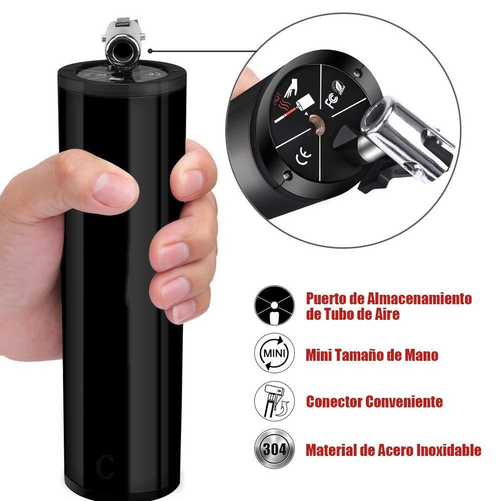 L&Z Mini Compresor de Aire Portátil Bomba para neumáticos de Mano con led Pantalla Digital LCD Bateria de Litio 12V 120PSI Inflador Eléctrico para Coche ...