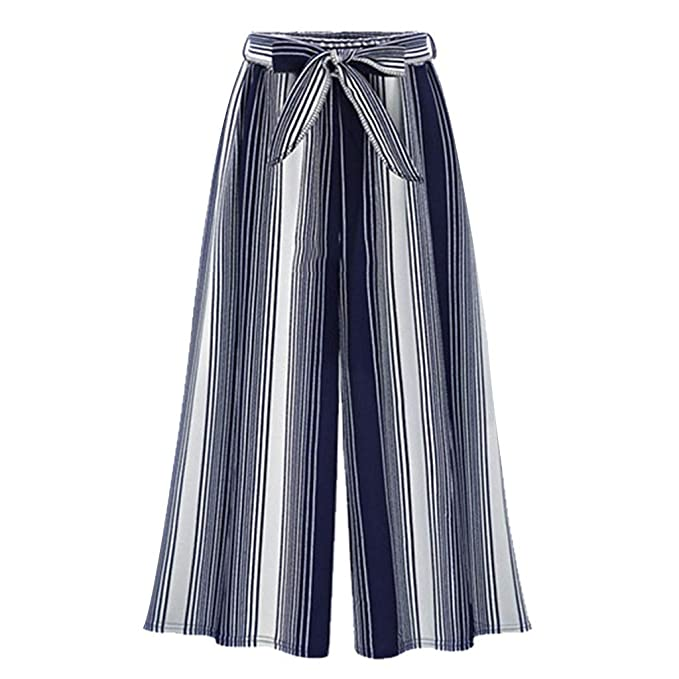 OverDose pantalones De Vestir De Moda Estampado Rayas ...