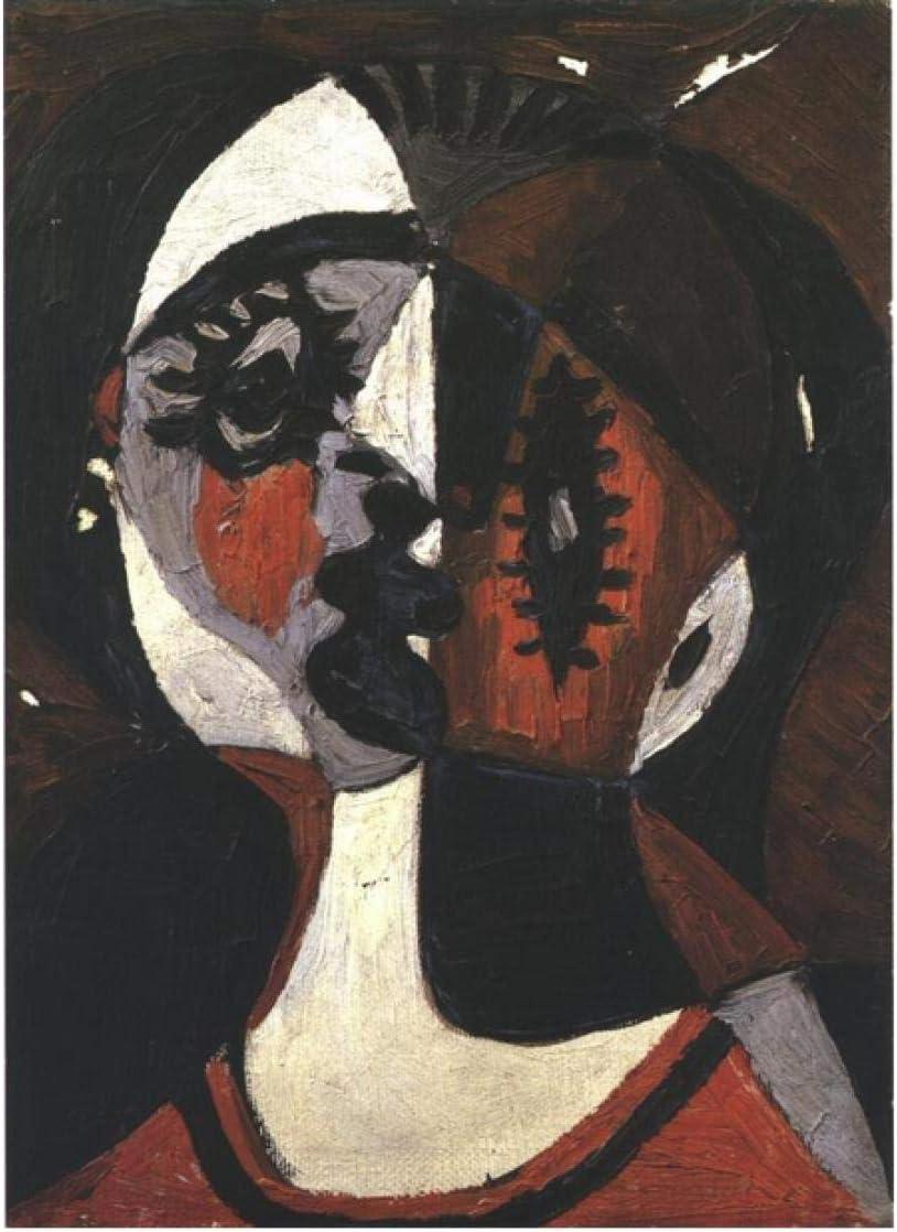 Picasso famoso cuadro abstracto rojo cara blanca paisaje diy digital pintura al óleo regalo para decoración del hogar 40 * 50 cm