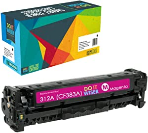 Do it Wiser Remanufactured Toner Cartridge Replacement for HP 312A CF383A for use in HP Color Laserjet Pro MFP M476 M476dn M476dw M476nw (Magenta)