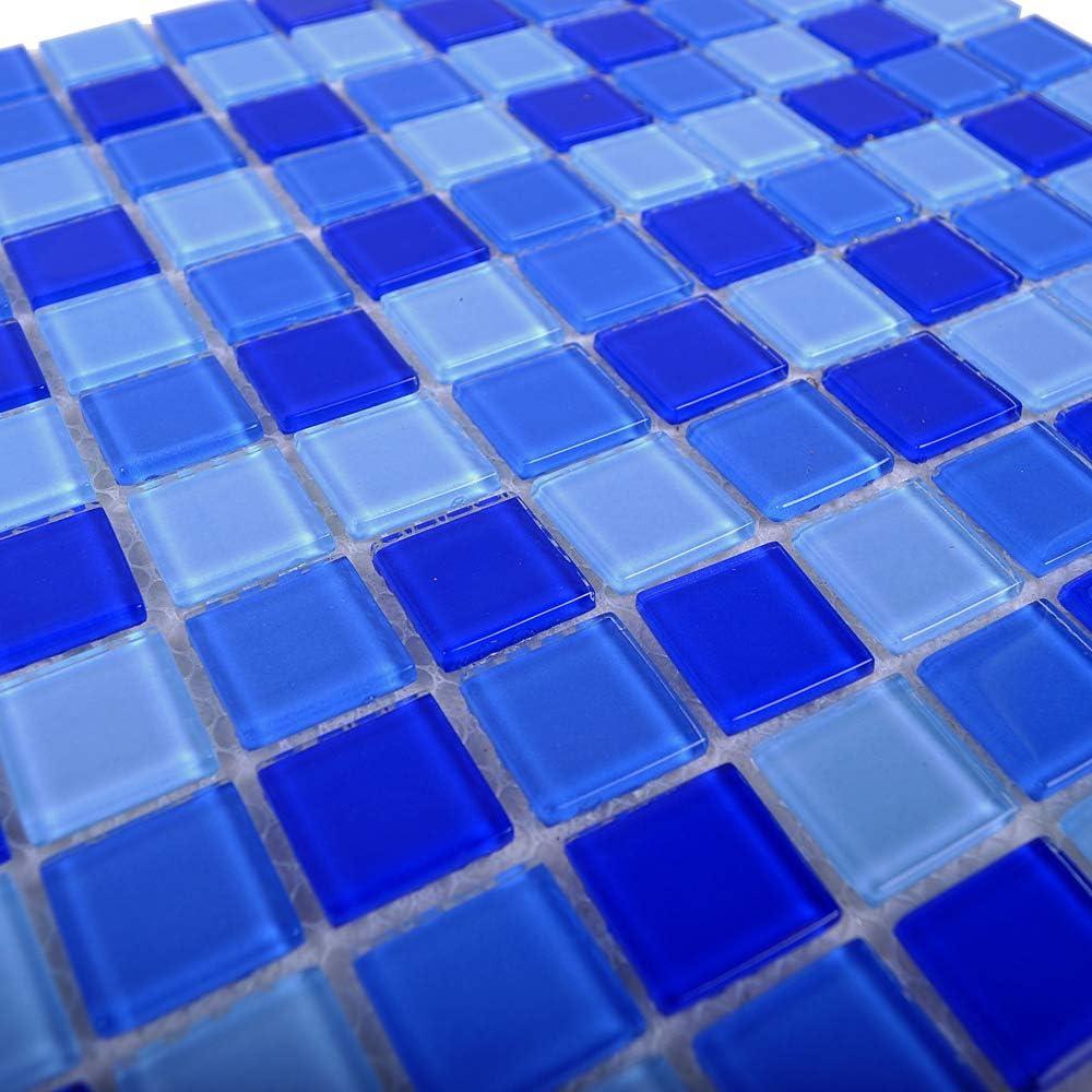 Blau Armena 310254TZR3 1qm Glasfliesen Blaumix f/ür die W/ände und den Fu/ßboden von Bad und Schwimmbad TZR3