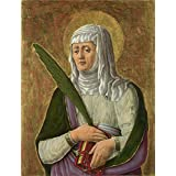 Canvas Prints Of Oil Painting ' Giorgio Schiavone A Female Saint ' , 12 x 16 inch / 30 x 40 cm , High Quality Polyster Canvas Is For Gifts And Dining Room, Game Room And Study Room Decoration, images