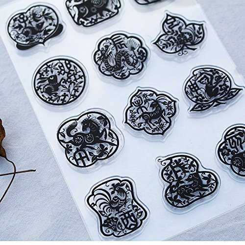 - Clear Rubber Stamps Set Case Block for Card Making DIY Scrapbooking (Zodiac Symbol)