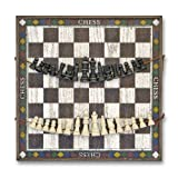 : Melissa & Doug Classic Wooden Chess Game Board