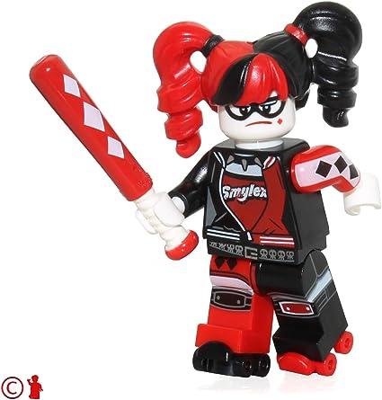 LEGO Harley Quinn - Pigtails with Baseball Bat Minifigura: Amazon.es: Juguetes y juegos