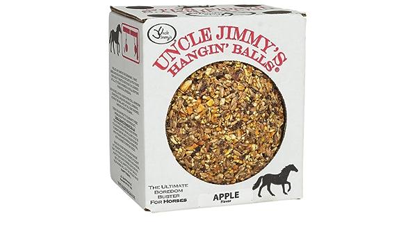 and Kicking Stall Walking Uncle Jimmys Hangin Ball APPLE Flavored Eliminates Boredom Weaving Cribbing