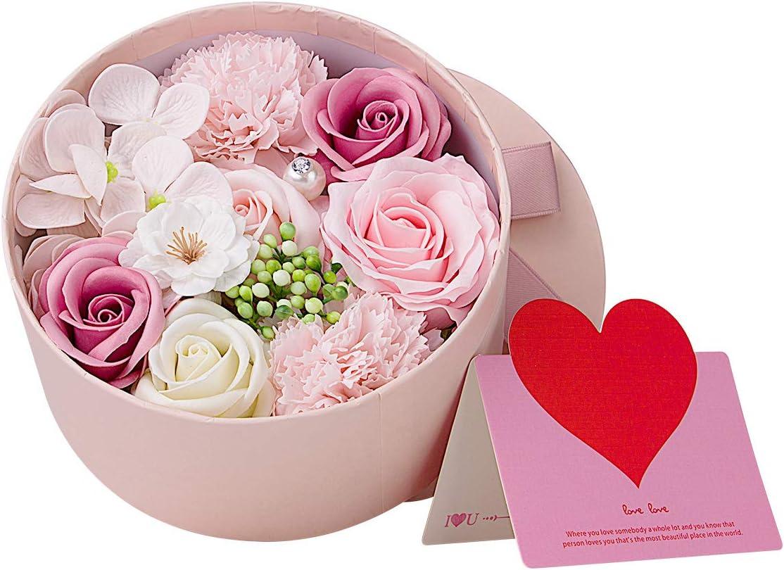 ANBET Regalo de Flores para Mujeres Ramo de Flores Artificiales con Caja de Regalo Regalo de Mujeres para el Día de San Valentín, Día de la Madre, Cumpleaños, Boda