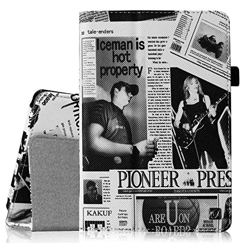 Fintie Folio Case for Fire HD 6 - Slim Fit Vegan Leather Standing Protective Cover with Auto Sleep/Wake Feature (Will only fit Amazon Kindle Fire HD 6 2014 Release), Newspaper