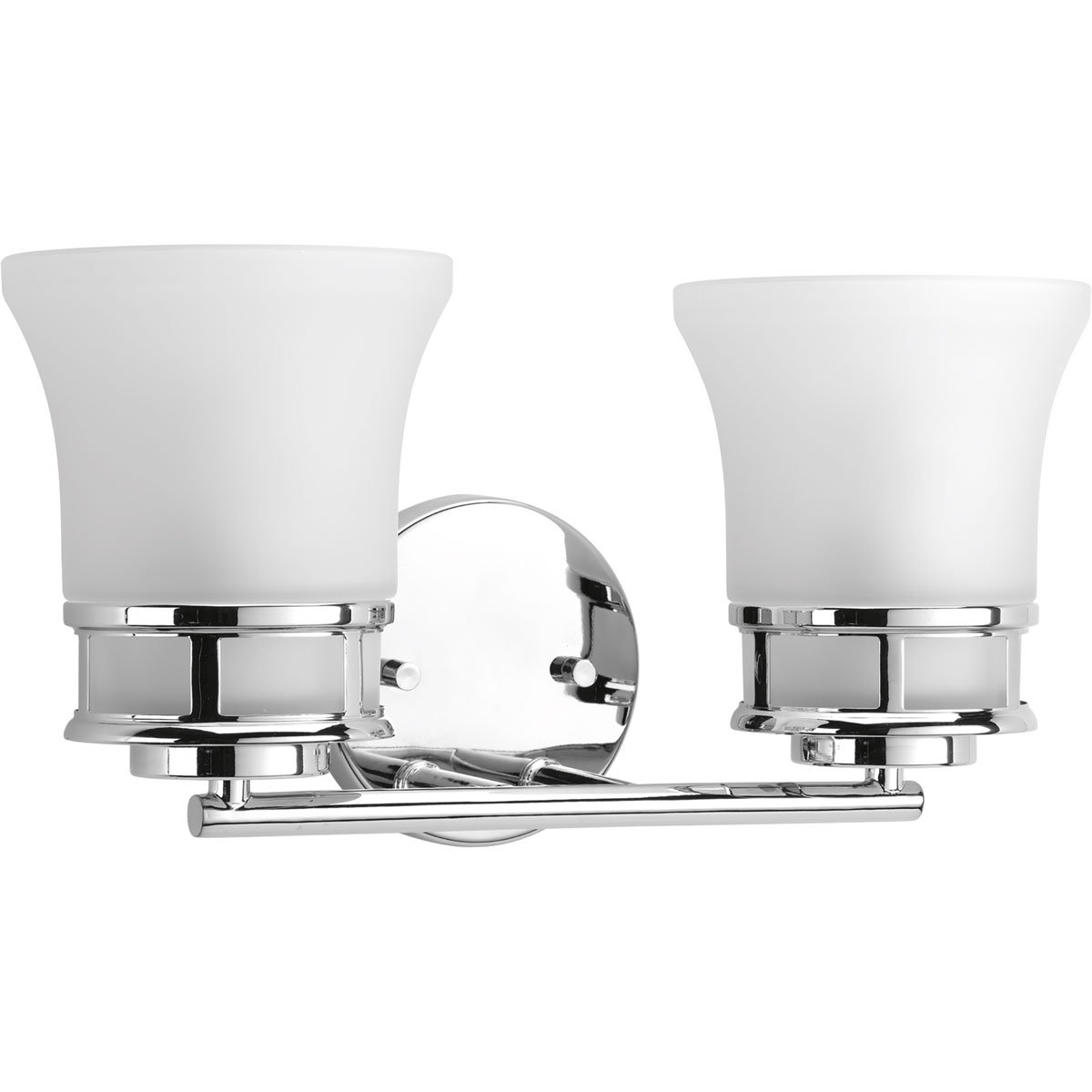 Progress Lighting P2147-15 Traditional Casual 2-100W Med Bath Bracket, Polished Chrome