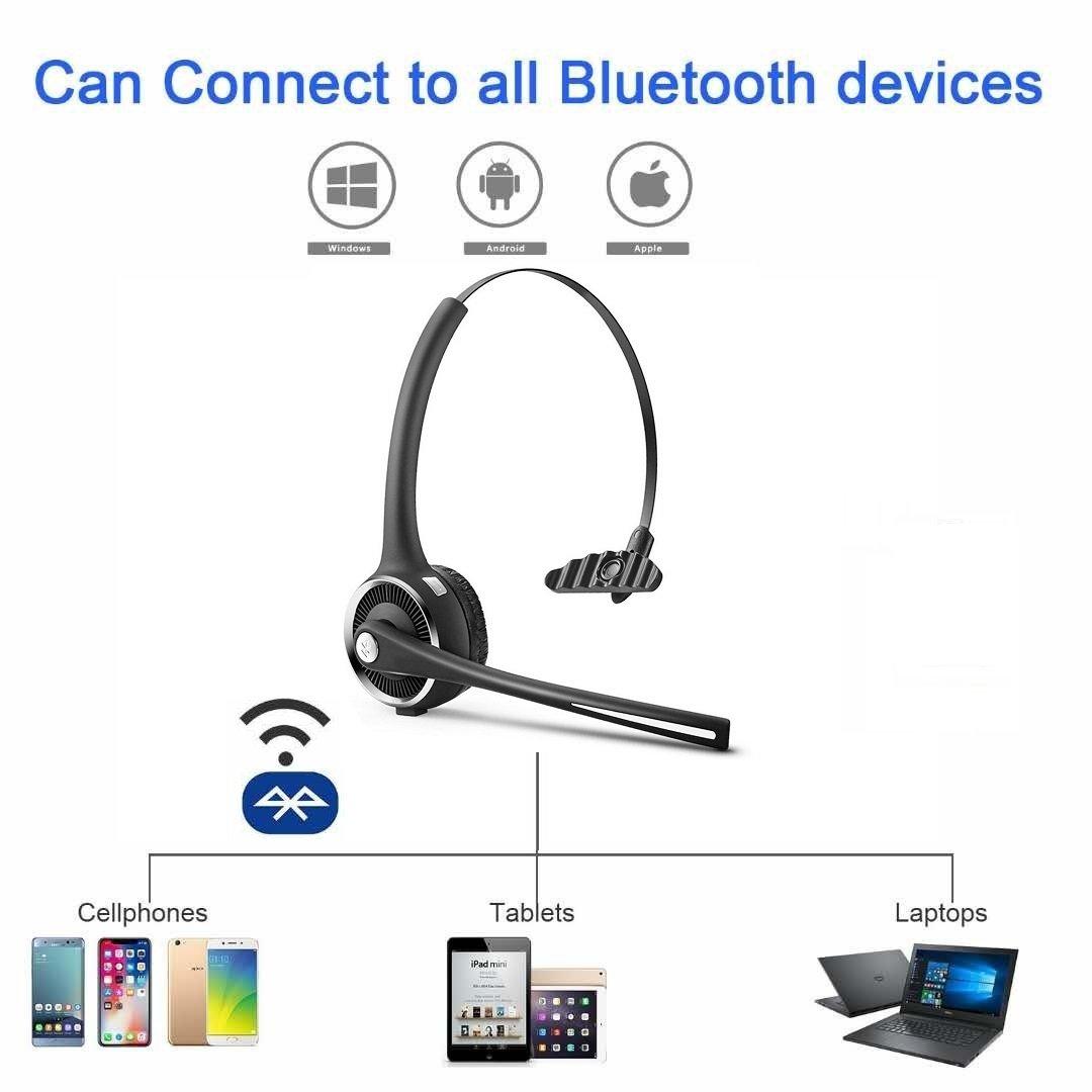 On Ear Car Bluetooth Headphones for VOIP Skype Call Centers Truck ...