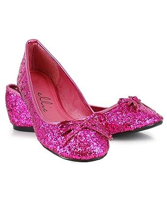 626ab80d984a Ellie Shoes Women s Glitter Flat with Bow (Fuchsia Glitter ...