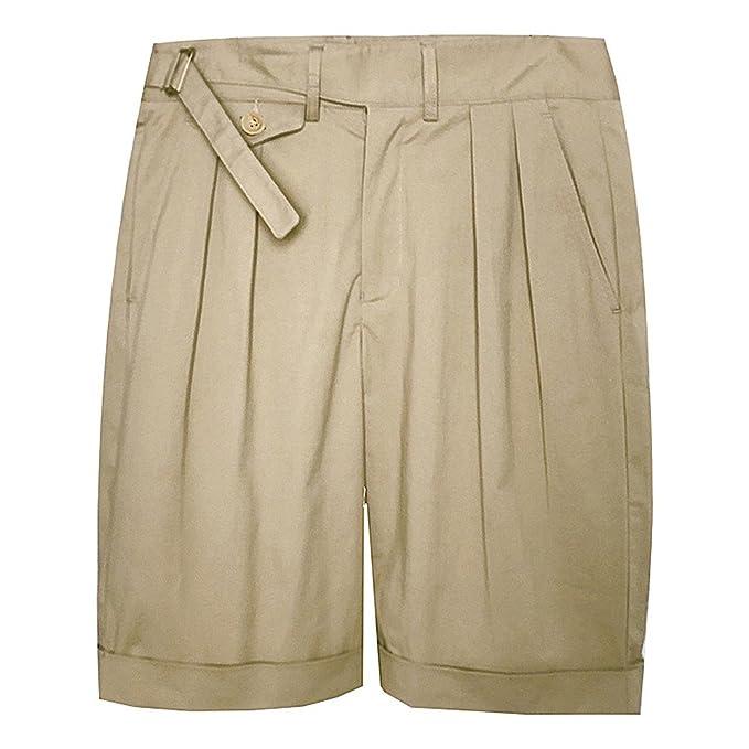 cfffe536563 VTGDR Plus Size Vintage Army Khaki Gurkha Shorts Mens Chino Military Bermuda  Pants  Amazon.ca  Clothing   Accessories