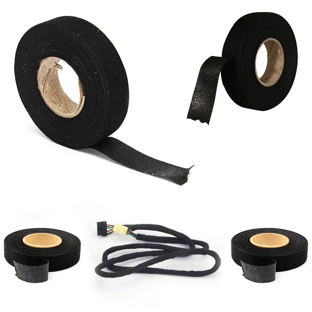 Brlige Wiring Harness Tape Heat Resistant Adhesive Cloth Fabric Loom Cable Looms For Car Motorcycle Diy Tools