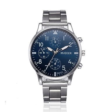 Yvelands Reloj de Pulsera de Cuarzo analógico de Acero Inoxidable cristalino Liquidación Fashion Man (tamaño Libre,A): Amazon.es: Ropa y accesorios