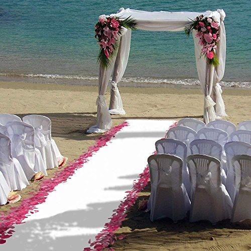 ShinyBeauty 4FTX15FT-Wedding Aisle Runner-White,Glitter Carpert Runner,Sequin Aisles Floor Runner,Wedding Ceremony Decor