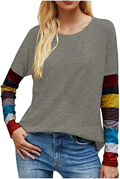 Fastbot womens Casual Sweatshirts Loose Plus Size Long Sleeve Dandelions Printed Crewneck Pullover Tops