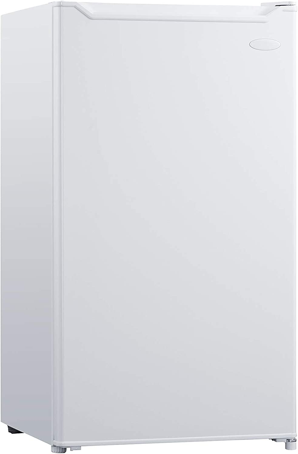 Danby White cu. ft. Compact Refrigerator DCR033B1WM 3.3 Cu.Ft. Mini Fridge with Top Chiller Bar, Living Room, Den, Basement, Kitchen, Dorm