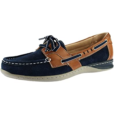save off new collection quite nice Earth Spirit Chicago Ladies Boat Shoes Navy Blue: Amazon.co.uk ...