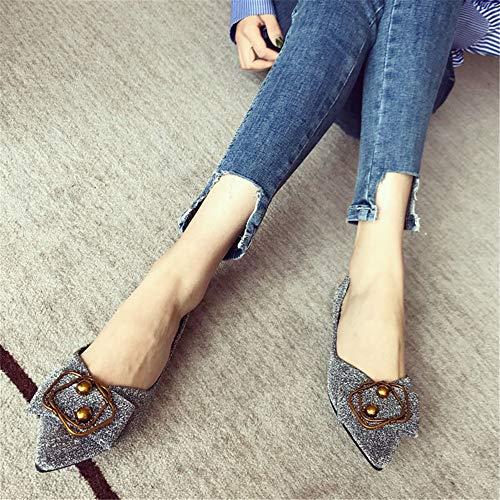 da poco lavoro donna basse donna 38 profonde scarpe basse EU da scarpe con a comode EU singolo Scarpe FLYRCX lucida e 38 punta fondo da morbide HwFX75Yq