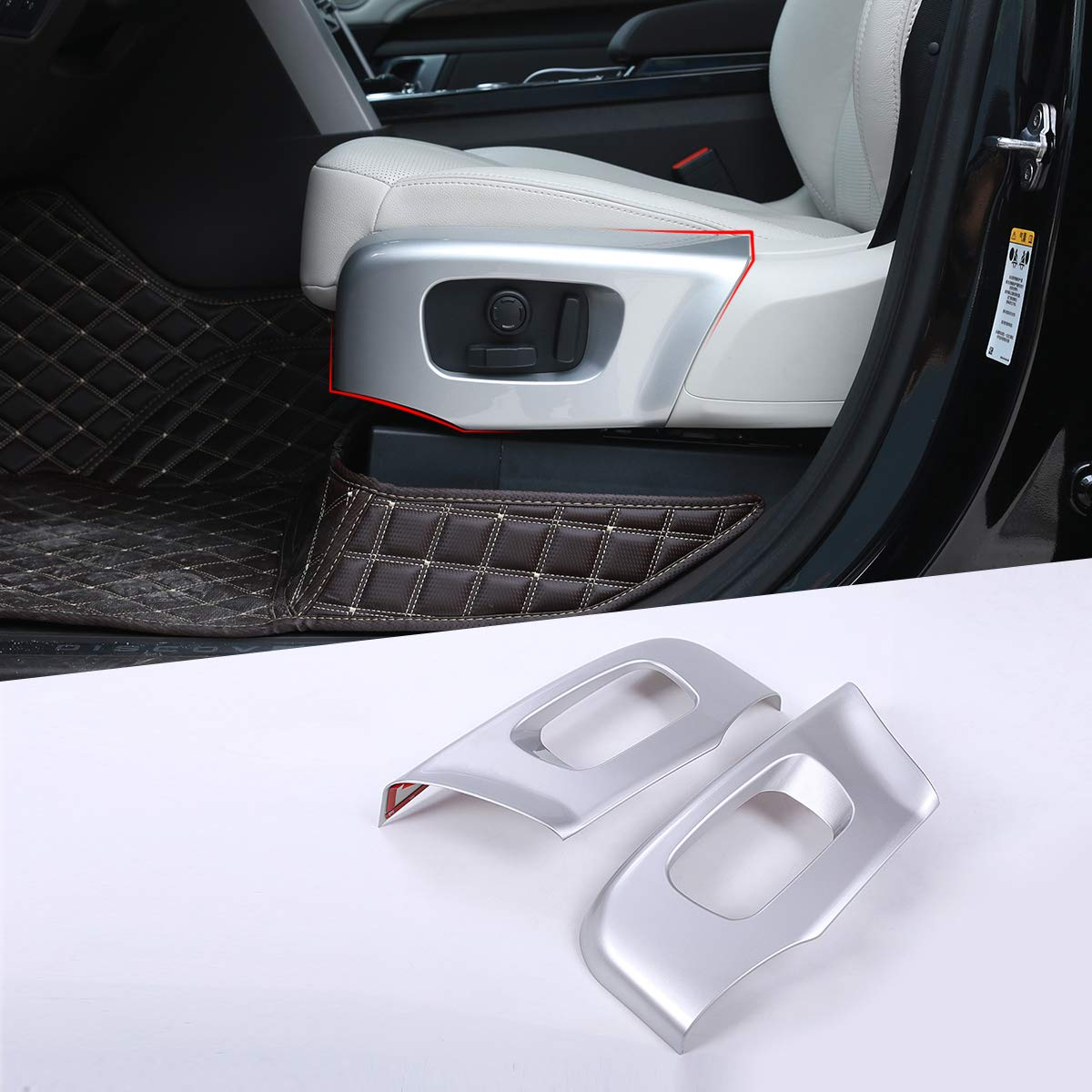 for Land Rover Discovery 5 2017-19 ABS Silver Chrome Car Seat Side Cover Frame Trim for Range Rover Velar RR Sport 2018 2019