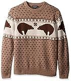 Pendleton Men's Bear Sweater, Brown/Ivory Bear, XXL