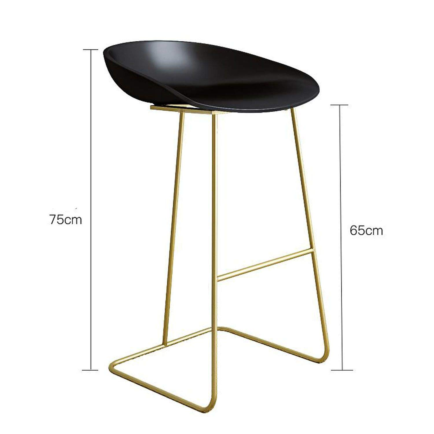Style 11 one size Bar Stools gold Wrought Iron Stool Modern Minimalist Home Backrest High Chair Creative Net Red Bar,Style 11