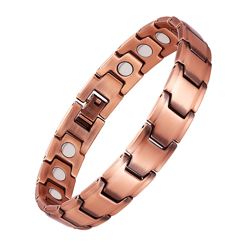 Magnetic Copper Bracelets Pain Relief for Men Women Arthritis Magnet Wristband Fathers Day Gifts By Santune