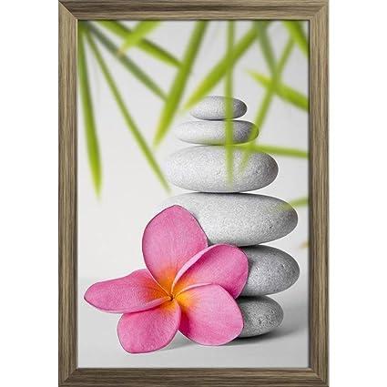 dc68094dcf4 Artzfolio Stack of White Pebbles   Pink Frangipani Flower Poster ...