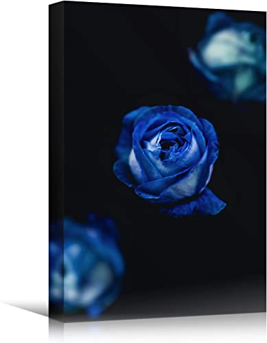 signwin Canvas Wall Art Blue Petals Close Up Bedroom Close Up Colorful Floral Multicolor Petal Photography Romantic