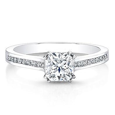 e3775919a6cba Diamant Bagues de fian ccedil ailles pour femme Or blanc massif 14 nbsp ct  Diamant de