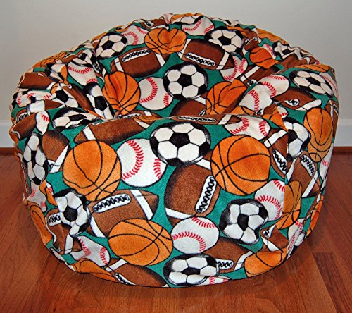 Attrayant Amazon.com: Ahh! Products Sports Balls Anti Pill Fleece Washable Large Bean  Bag Chair: Toys U0026 Games