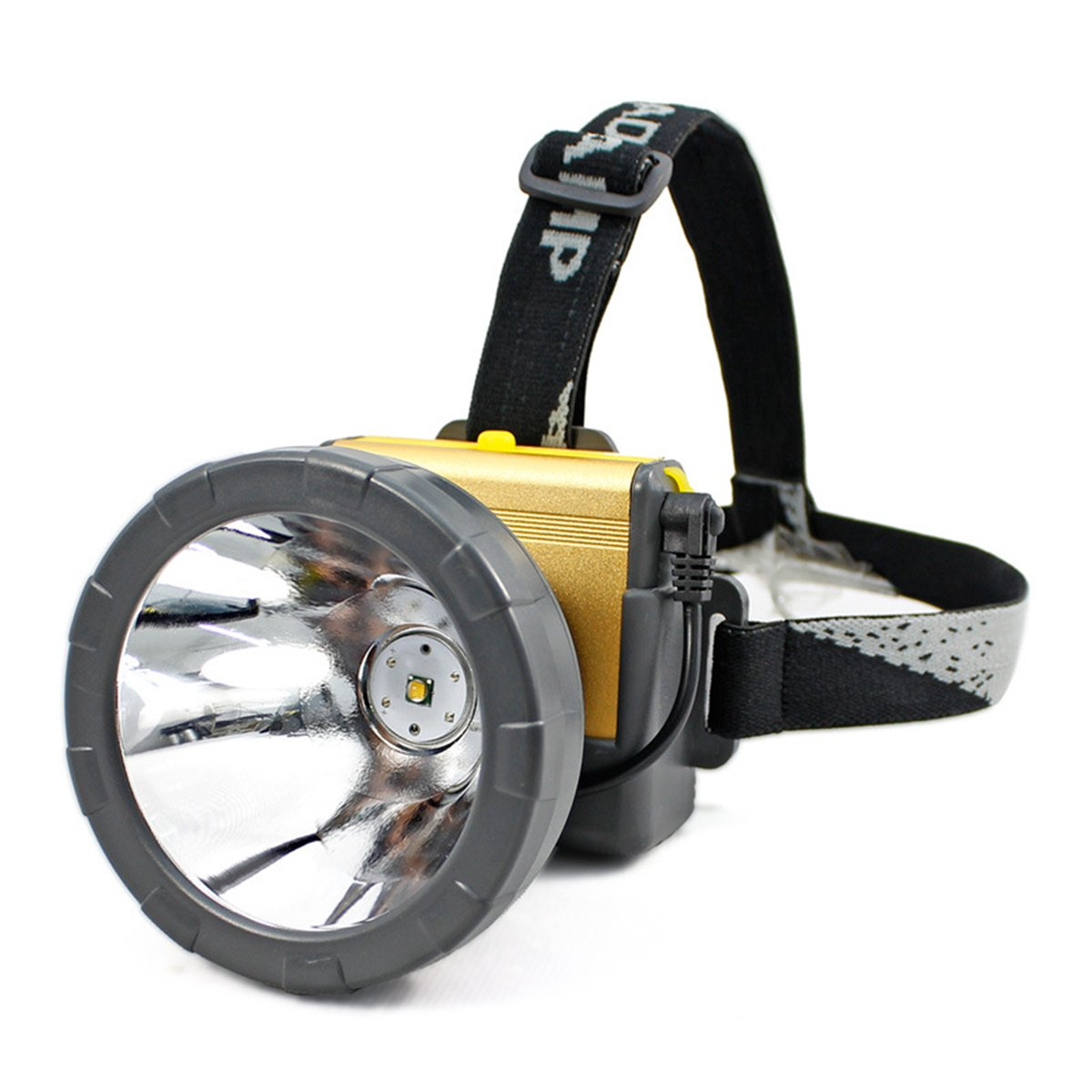 Adjustable Waterproof Rechargeable LED Headlamp Flashlight for Mining ,Camping, Hiking, Fishing