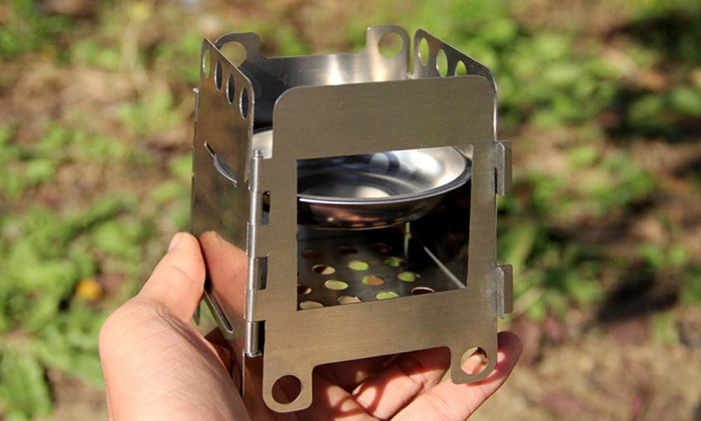 Amazon.com : Anself Portable Stainless Steel Lightweight Folding Wood Stove  Pocket Alcohol Stove Outdoor Camping Cooking Backpacking : Sports & Outdoors - Amazon.com : Anself Portable Stainless Steel Lightweight Folding