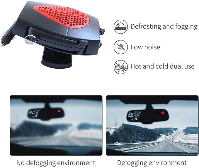 Auto riscaldante Queta Portable Winter Auto Riscaldante Auto Car Van Riscaldatore Sbrinatore Cool Ventola 12 Volt 150 W Winter Parabrezza Finestra Disappannatore