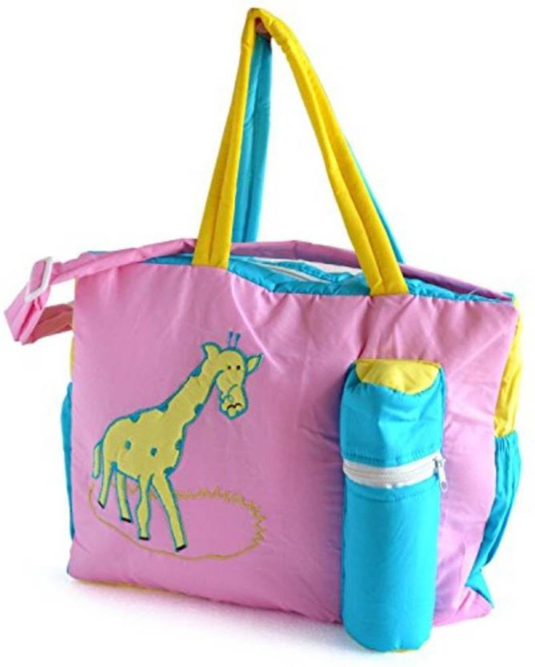 404f2454c5 Buy Poddar Fashion Square Krishnam Cotton Fabric New-Born Baby Multipurpose Nappy  Bag with Holder - (Giraffe Pink) Online at Low Prices in India - Amazon.in