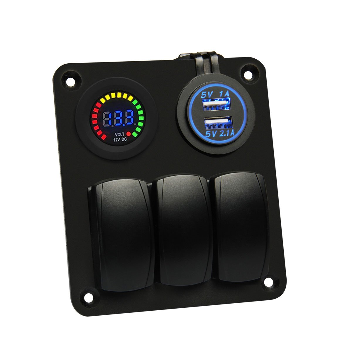 Amazon.com : Generic Marine/Boat Car 6 Gang Switch Panel with Light ...