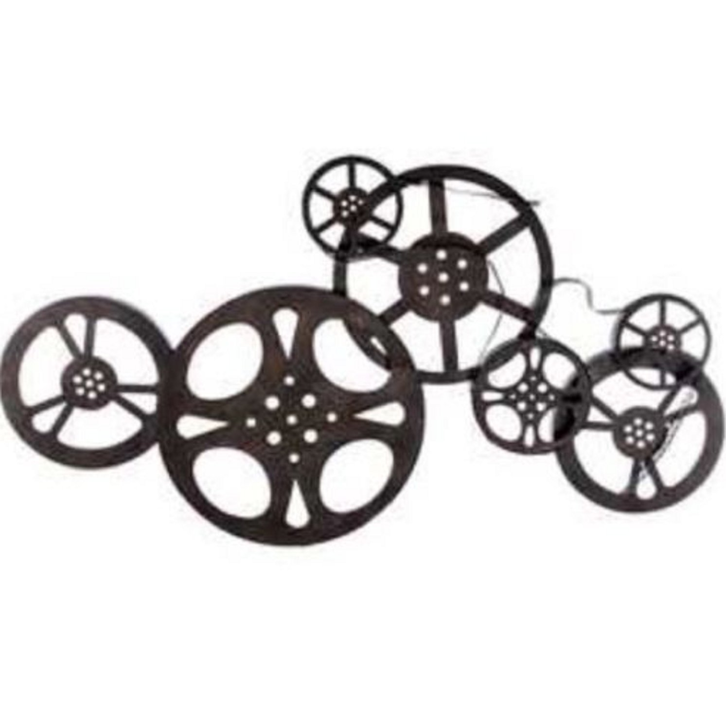 TNS STORE Antique Bronze Metal Movie Reel Wall Art Theater Home Decor Sale by TNS STORE