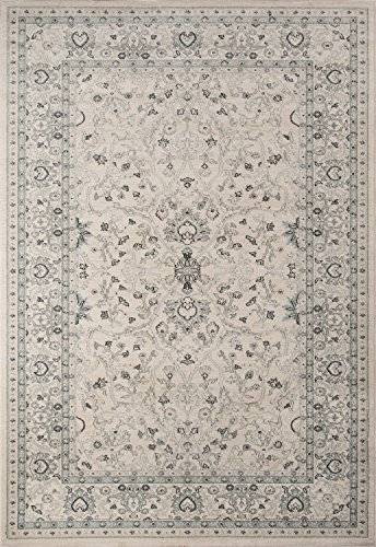 Momeni Rugs ZIEGLZE-07IVY2030 Ziegler Collection, Traditional Area Rug, 2′ x 3′, Ivory For Sale