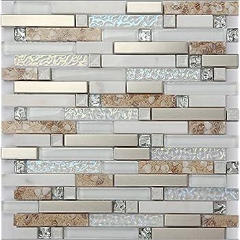 Beach Style 48D Glass Tile Mother Of Pearl Shell Resin Kitchen Enchanting Resin Backsplash Ideas