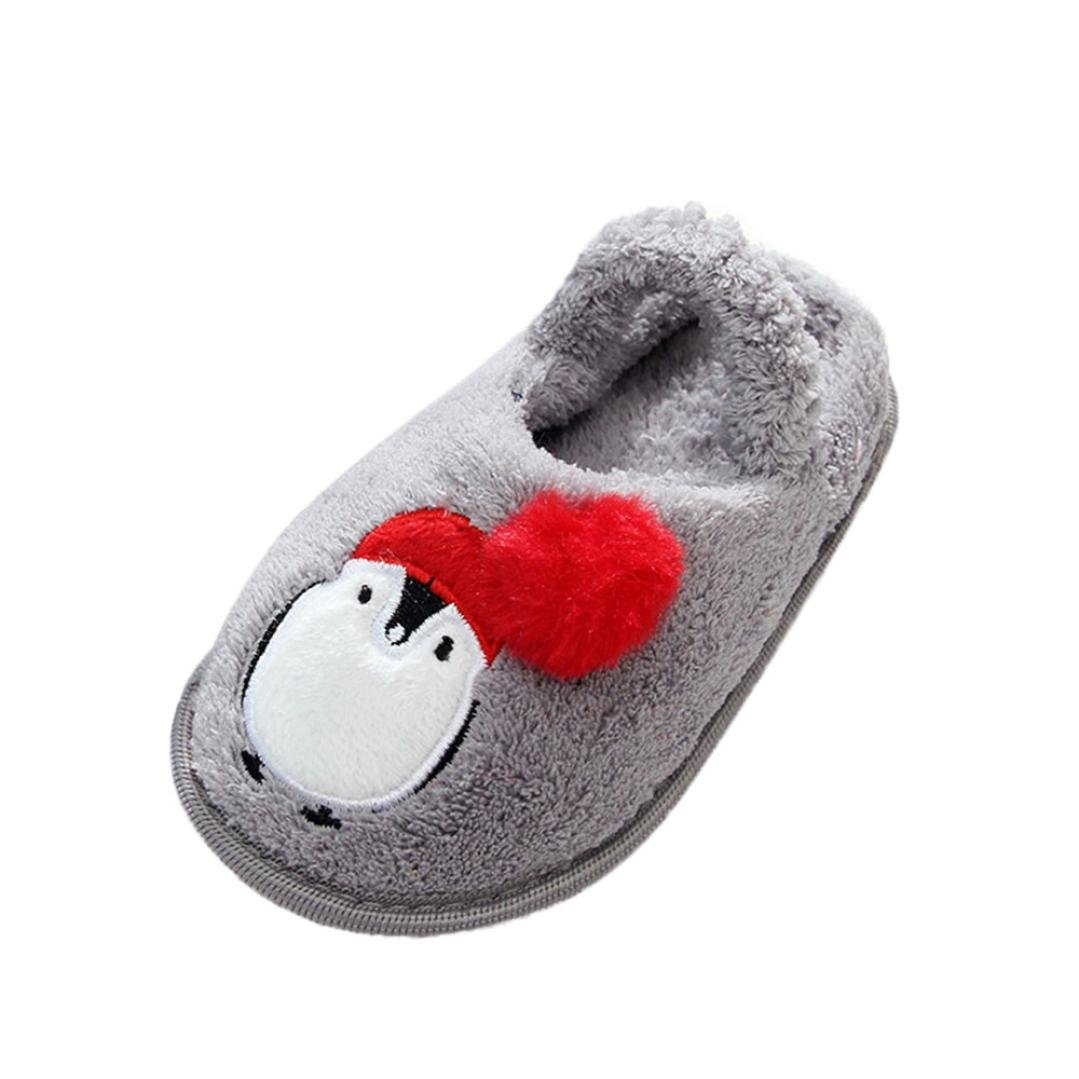 Baby Kids Cute Cartoon Design Slip-On Toddler Warming Shoes Household Slipper