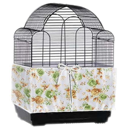 MFIIDEN Falda para jaula de pájaros con cordón ajustable para ...