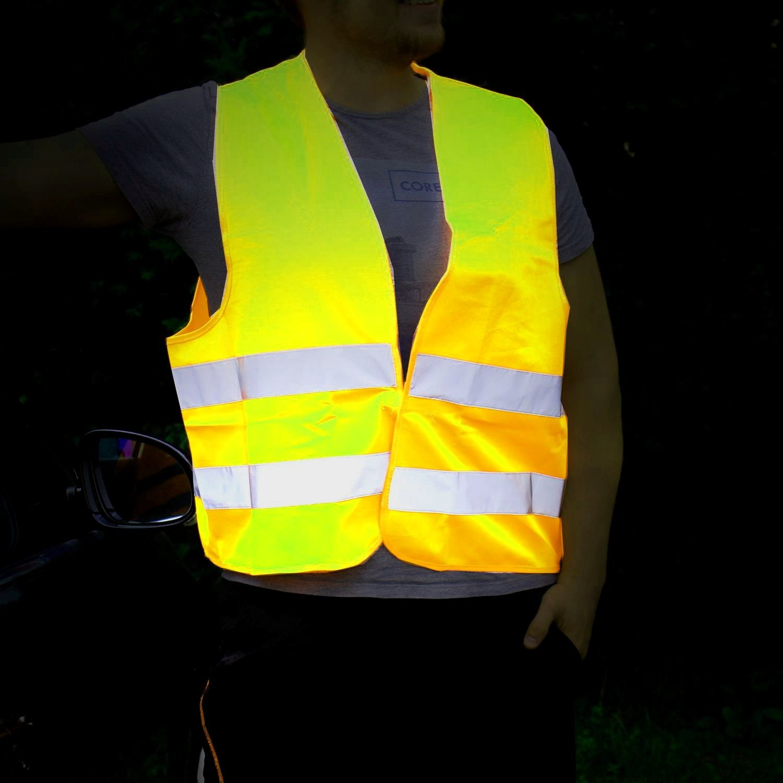 Leina Werke 13101 Pannenwarnweste Polyester im Beutel Gelb