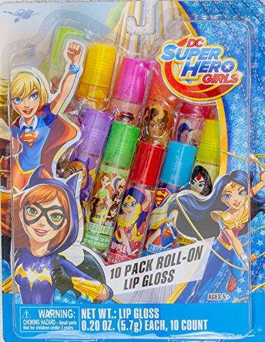 DC Super Hero Girls Lip Gloss - 10 Pack Roll On (Thing Superhero)