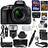 Nikon D5600 Wi-Fi Digital SLR Camera & 18-140mm VR DX AF-S Lens + 64GB Card + Case + Flash + Battery & Charger + Grip + Tripod + Filters + Remote Kit