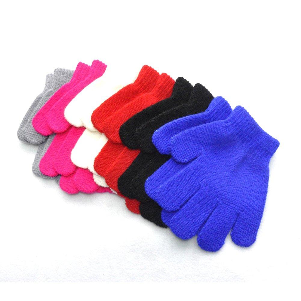 ViewHuge 3Pairs Cute Boys Girls Children Kids Winter Soft Knitted Warm Mittens Gloves