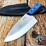 10'' Heavy Duty Stainless Steel Chef Butcher Elite Knife Meat Cleaver Cutting BLUE HDL + free eBook by ProTactical'US