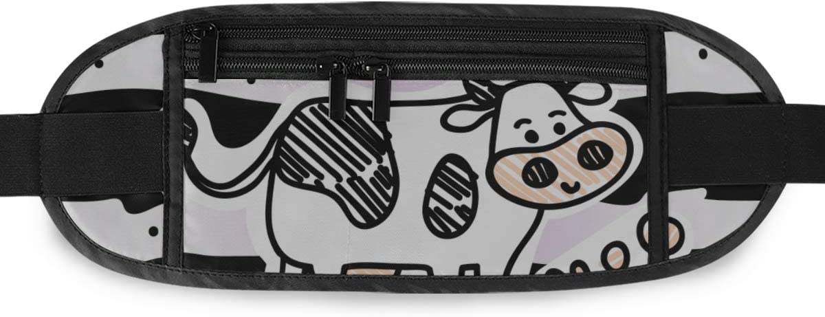 Travel Waist Pack,travel Pocket With Adjustable Belt Line Cartoon Standing Spotted Running Lumbar Pack For Travel Outdoor Sports Walking
