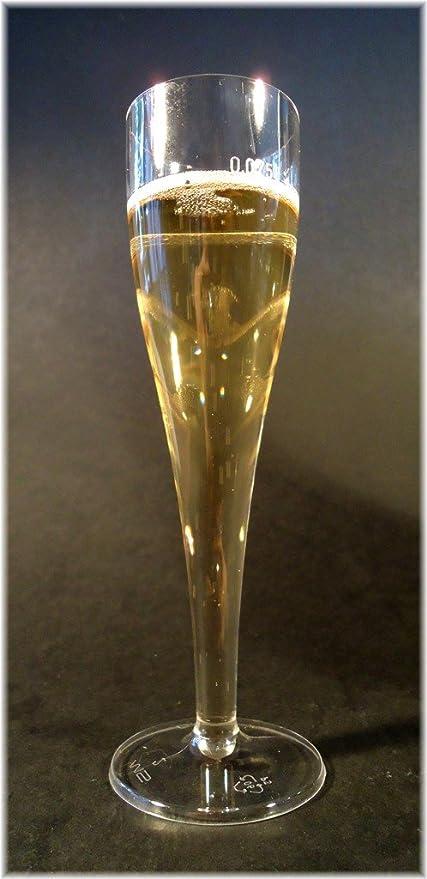 10 x desechable con diseño de champán de vasos de 0,075 litros copas de champán,