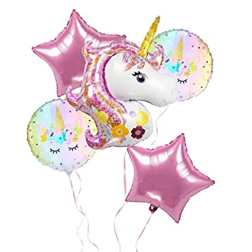 UK UNICORN HEAD HELIUM FOIL BALLOON Fun Party Decoration Birthday Girls Kids